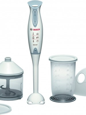 Kitchen Products - White/Grey Bosch Hand Blender and Accessories, 600W - MSM6300GB