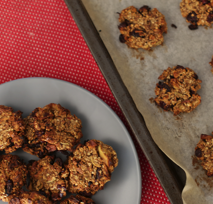Chewy oatmeal apple biscuits: Recipes from All Nourish dietitian- Stacey Fischer