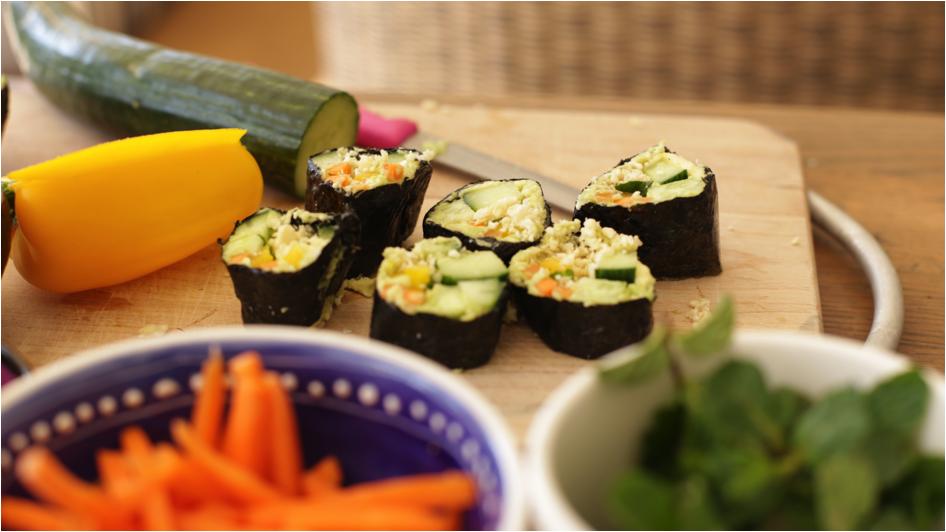 veg sushi recipe