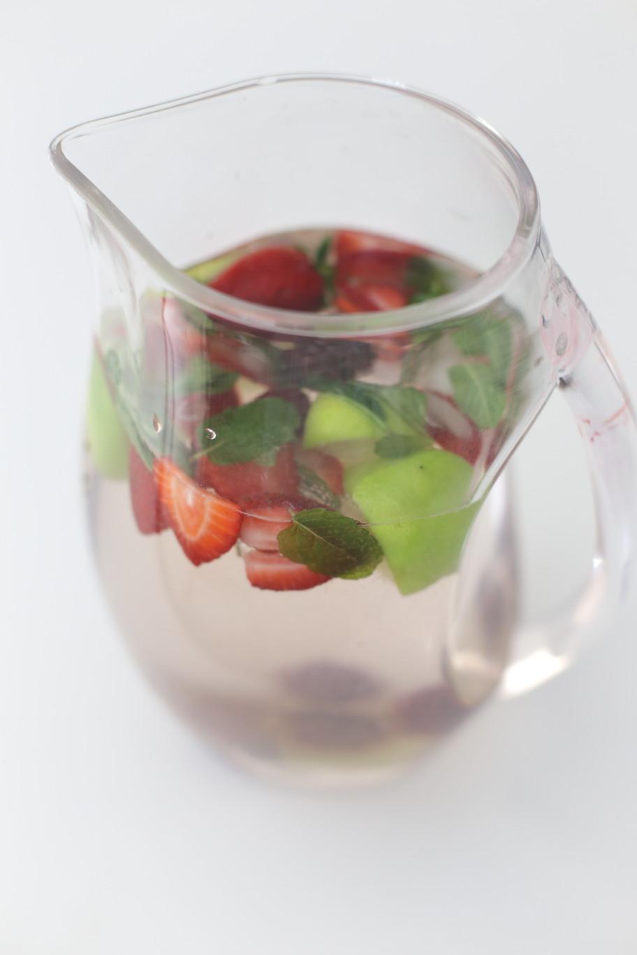 fruit infused water jug