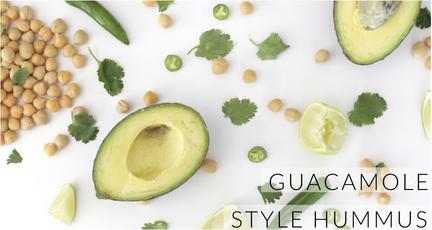 guacamole style hummus feature
