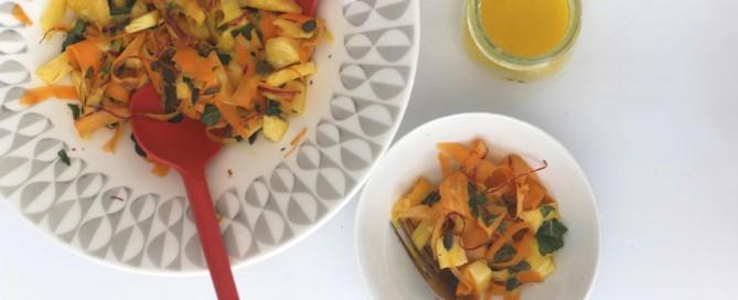 rainbow carrot & pineapple salad